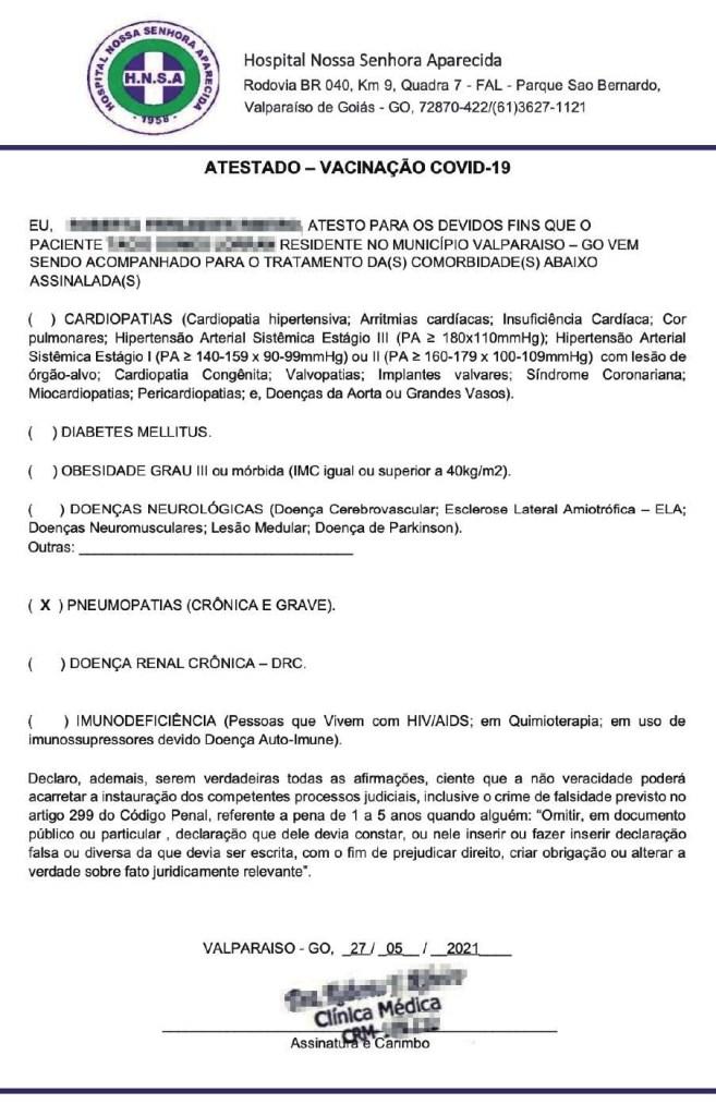 1 c99a2f8b46 657x1024 - DESESPERO: Laudos falsos de comorbidades são vendidos no país de R$ 20 a R$ 250