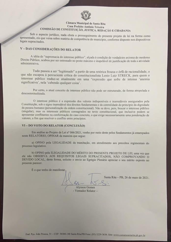 C5E40629 A268 487C 9E8D AF33AEC5BFEA - DIA DO CORNO: relatório aponta 'ilegalidade' e falta de interesse local em projeto apresentado em Santa Rita