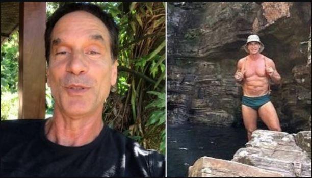 Capturar.JPGgt  2 - Victor Fasano posa de sunga em cachoeira e mostra boa forma aos 61 anos