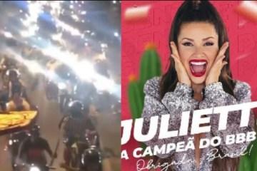CAMPEÃ DO BBB21: Carreata em Campina Grande celebra vitória de Juliette Freire – VEJA VÍDEO