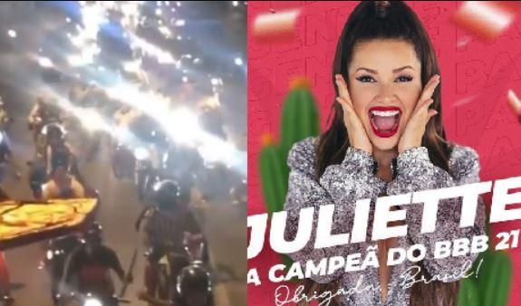 Capturar.JPGkfkf - CAMPEÃ DO BBB21: Carreata em Campina Grande celebra vitória de Juliette Freire - VEJA VÍDEO