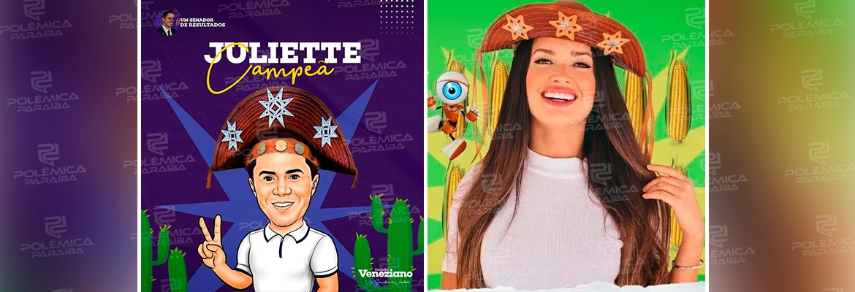 """WhatsApp Image 2021 05 03 at 10.08.15 - Veneziano reitera apoio à Juliette na final do BBB com caricatura: """"representatividade de todas paraibanas e paraibanos"""""""
