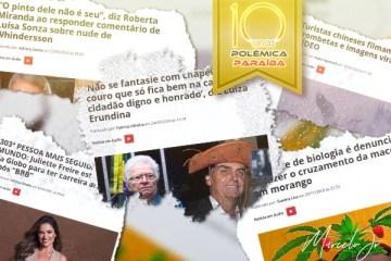 MACONHA COM MORANGO, JULIETTE, PINTO DE WHINDERSSON: Relembre as 20 matérias mais acessadas nos dez anos do Polêmica Paraíba