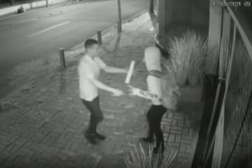assalto anapolis - Mulher reage a tentativa de assalto, bate em suspeito e consegue fugir em ônibus - VÍDEO