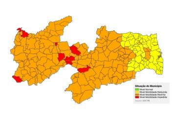ALERTA LIGADO: Com CG, Paraíba classifica 153 municípios em bandeira laranja; levantamento anterior apontava apenas 14 – VEJA DETALHES