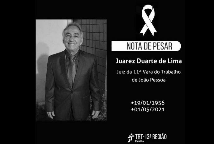 csm dd0ccac8 9d44 471f 9d1f 49419343cb7c ac8026d62f - MAIS UMA VÍTIMA: Juiz Juarez Duarte Lima morre em João Pessoa vítima de Covid-19