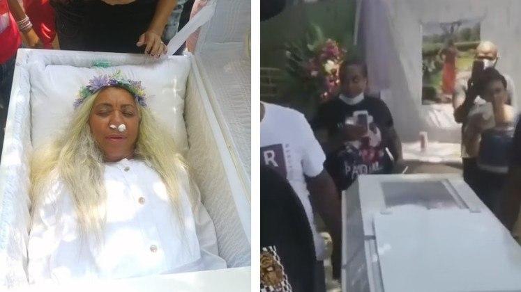 ensaio funeral santiago mayra alonzo 12052021184556052 - Mulher aluga caixão, ensaia funeral no quintal e ouve choro de amigos