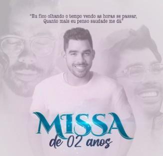 """missa gabriel diniz - Familiares de Gabriel Diniz realizam missa em homenagem ao artista: """"Mais um ano de saudades"""""""