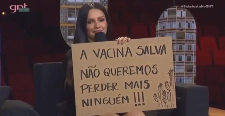 no saia justa juliette defende a vacina contra covid 19 979194 - No 'Saia Justa', Juliette defende vacina contra Covid-19: ''Confiem na ciência''