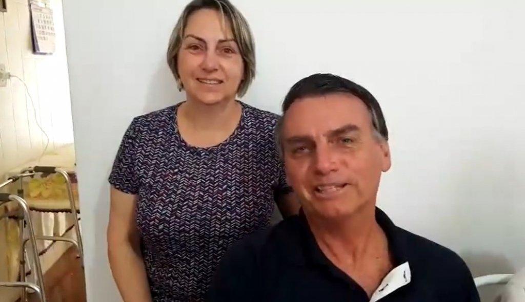 vania e bolsonaro 1024x590 1 - Hospital confirma Covid-19 em irmã de Bolsonaro, que segue internada recebendo tratamento
