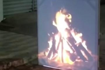 FOGUEIRA VIRTUAL: Em meio a proibição, cidade paraibana registra fogueira virtual em noite de São João – VÍDEO