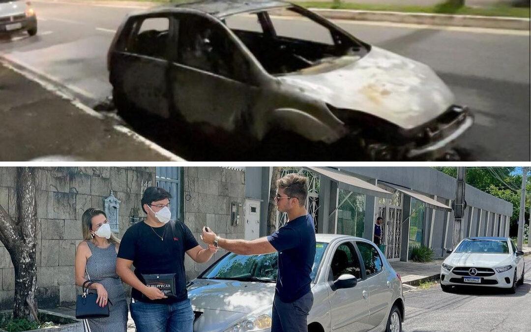 Design sem nome 2 1 edited - Digital influencer pessoense ajuda família que teve carro destruído pelo fogo e faz 'vakinha online' para comprar outro veículo - VEJA VÍDEO