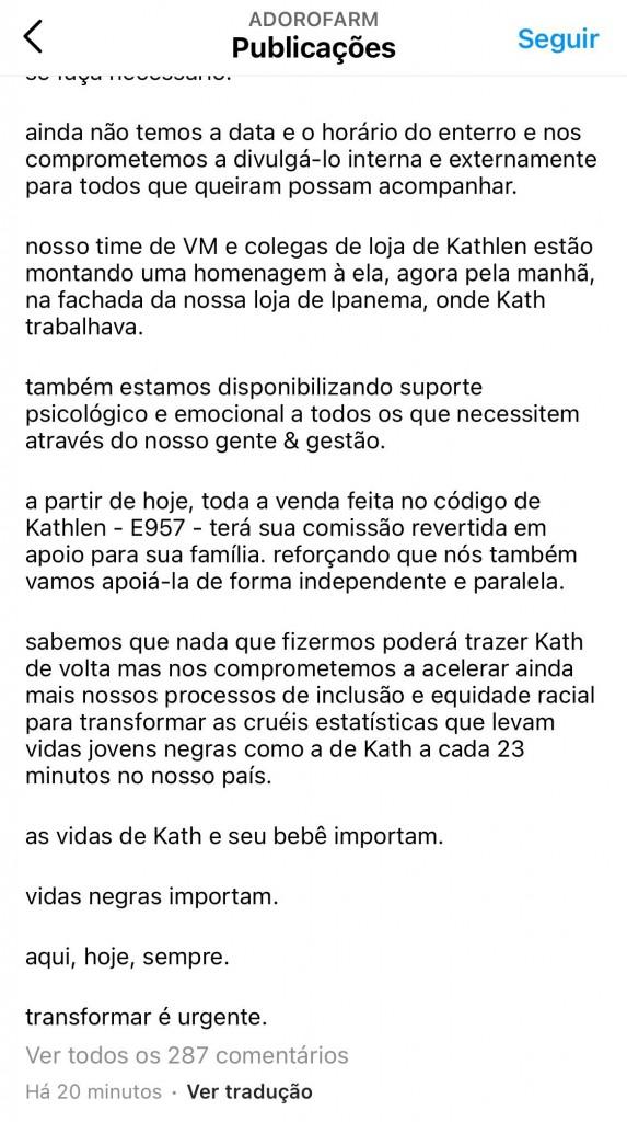 E3dD1CmXoAM8Yhu - 'VIDAS NEGRAS IMPORTAM'?! Marca de roupas vira alvo de críticas por fazer campanha de vendas em homenagem a Kathlen Romeu