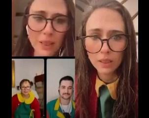 """TATA - ENCONTRO ÉPICO: Tata Werneck se emociona em live com atriz que vive Chiquinha no 'Chaves': """"Minha maior inspiração""""- VEJA VÍDEO"""