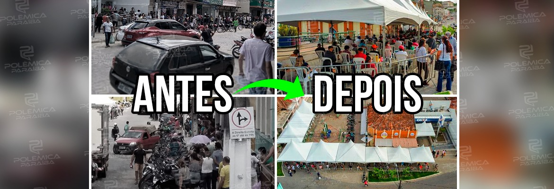 """WhatsApp Image 2021 06 04 at 09.40.21 - Bananeiras se destaca ao criar projeto para evitar filas e aglomerações na agência da caixa: """"organizar a fila é salvar vidas"""", diz prefeito"""