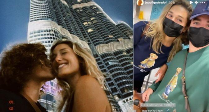 sash - De madrugada, Sasha e João Figueiredo buscam mala em Dubai