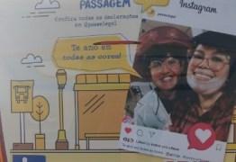 Sintur-JP estampa fotos de casais em ônibus para comemorar o Dia dos Namorados