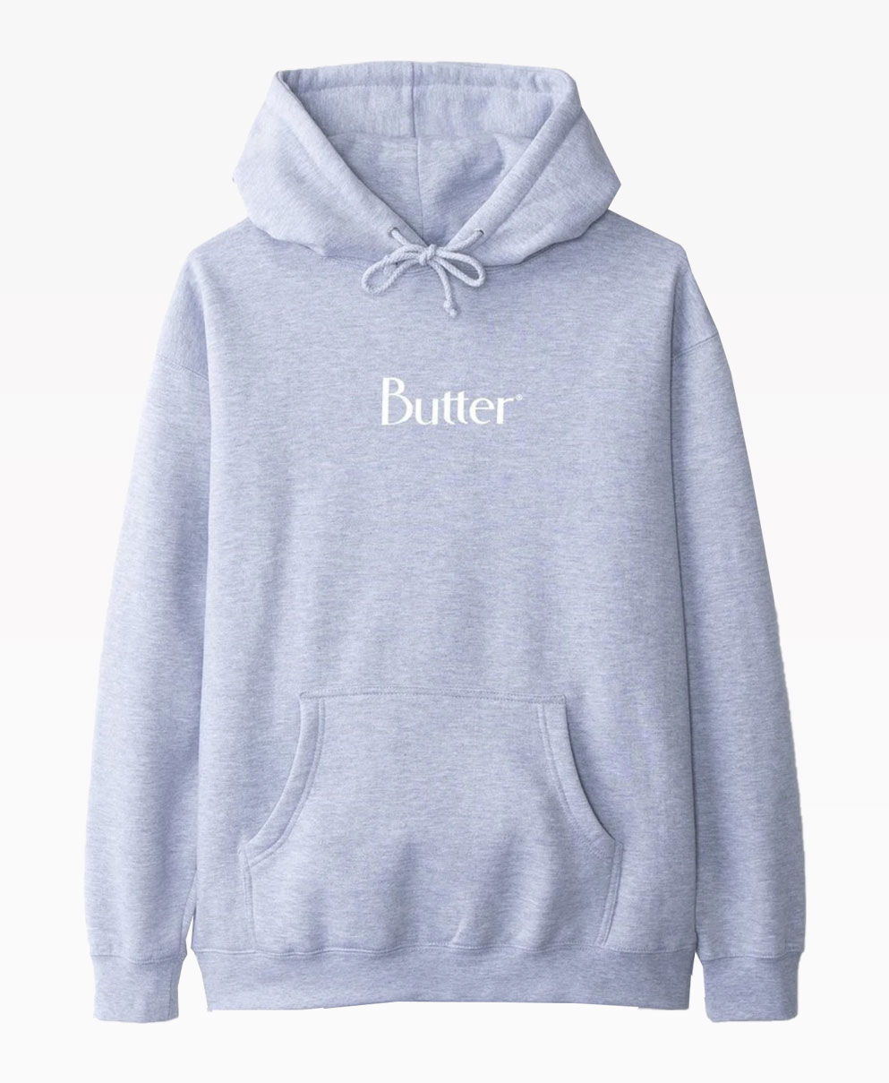 Butter Goods Classic Logo Grey Pullover Front