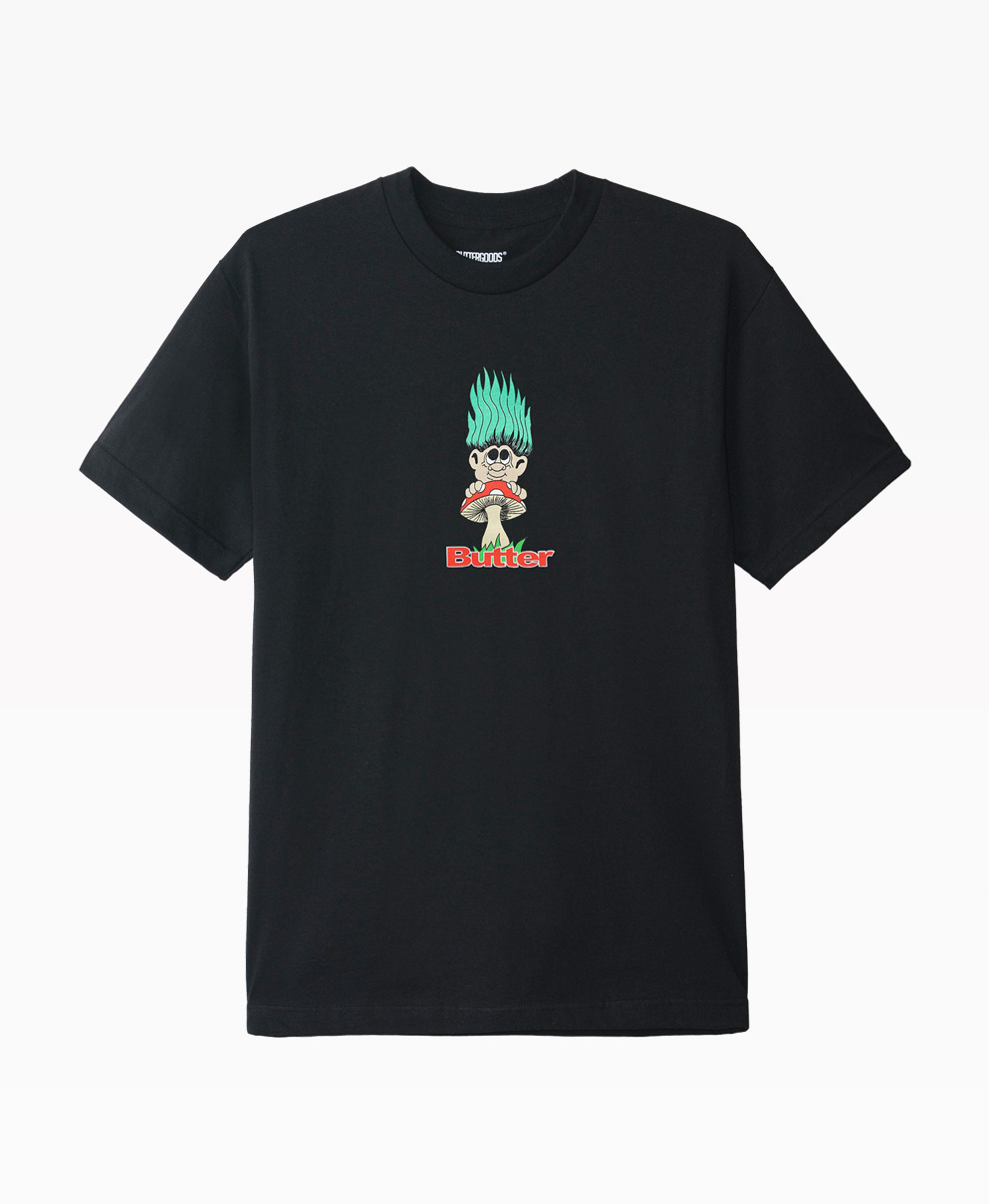 Butter Goods Troll T Shirt Black Front