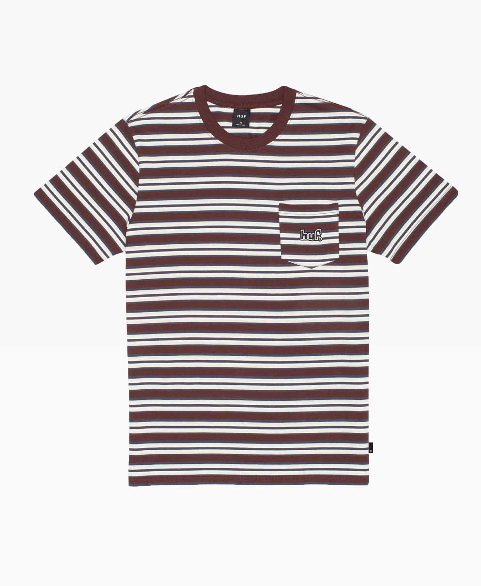 Huf Jett Stripe Short Sleeve Knit Top Front