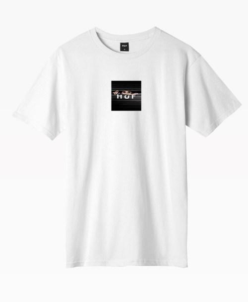 Huf Voyeur Logo T Shirt Front