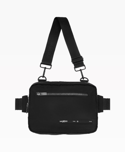 Wasted Chest Bag En Nylon Noir Front