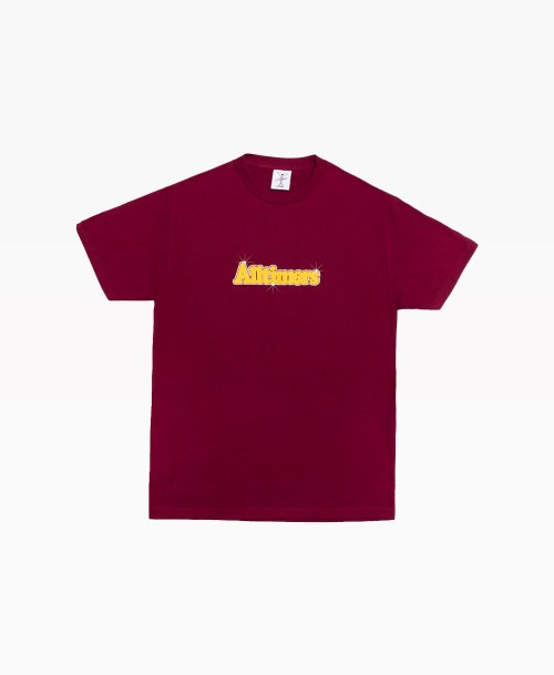 Alltimers Barbay Broadway Logo Tee Burgundy Front