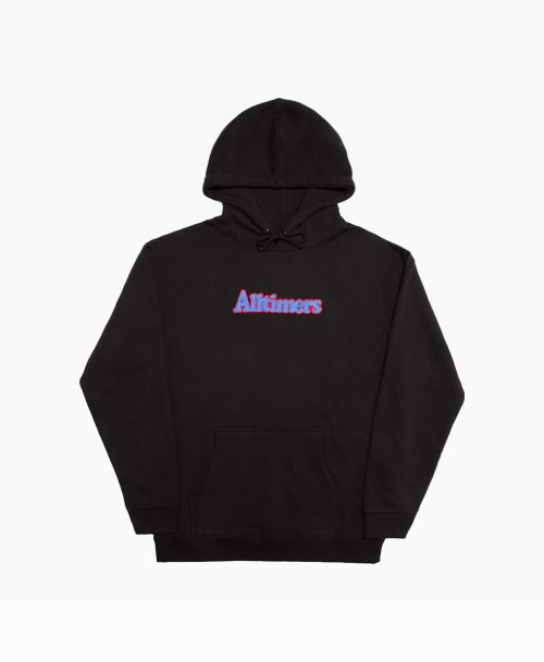 Alltimers Embroidered Broadway Hoodie Black Front
