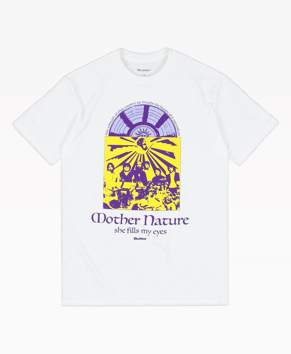 Butter Goods Mother Nature Tee White Front