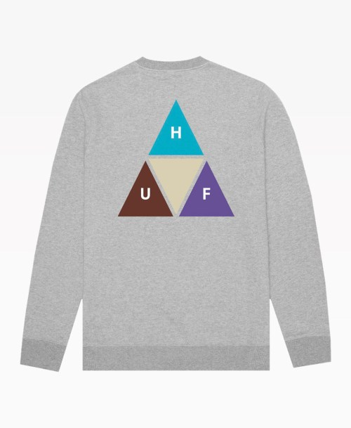 Huf Prism Trail Crewneck Heather Grey Back