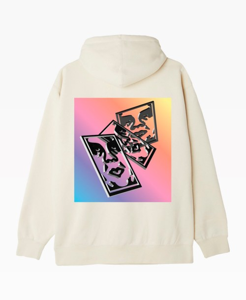 Obey Clothing Chaos And Entropy Hoodie Natural Back