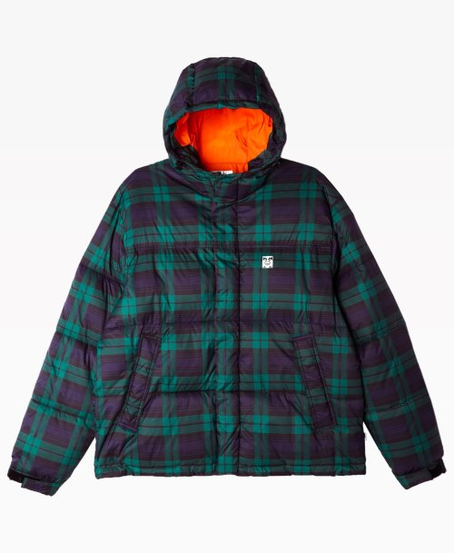 Obey Clothing Fellowship Puffer Jacket Orange Front