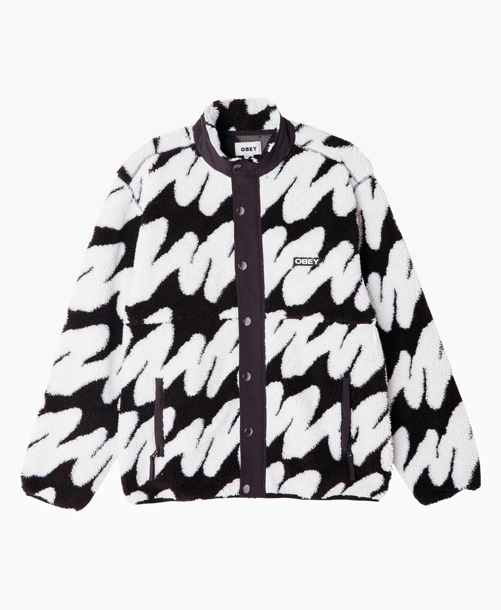 Obey Clothing Hense Sherpa Jacket Front