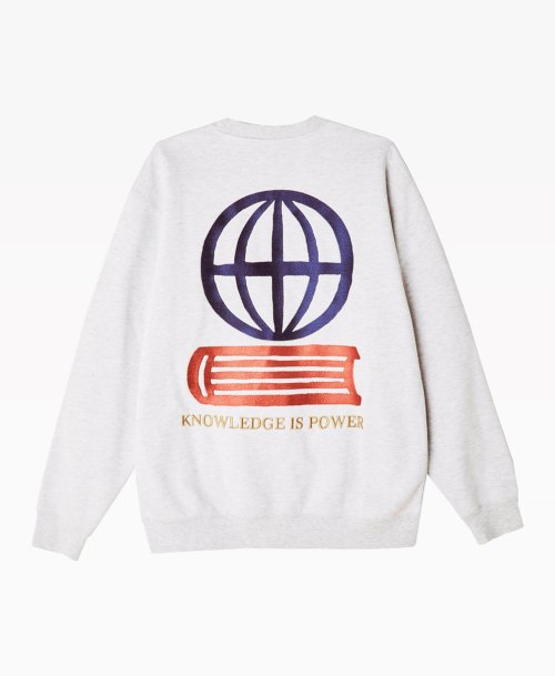 Obey Clothing Knowledge Crewneck Heather Grey Back