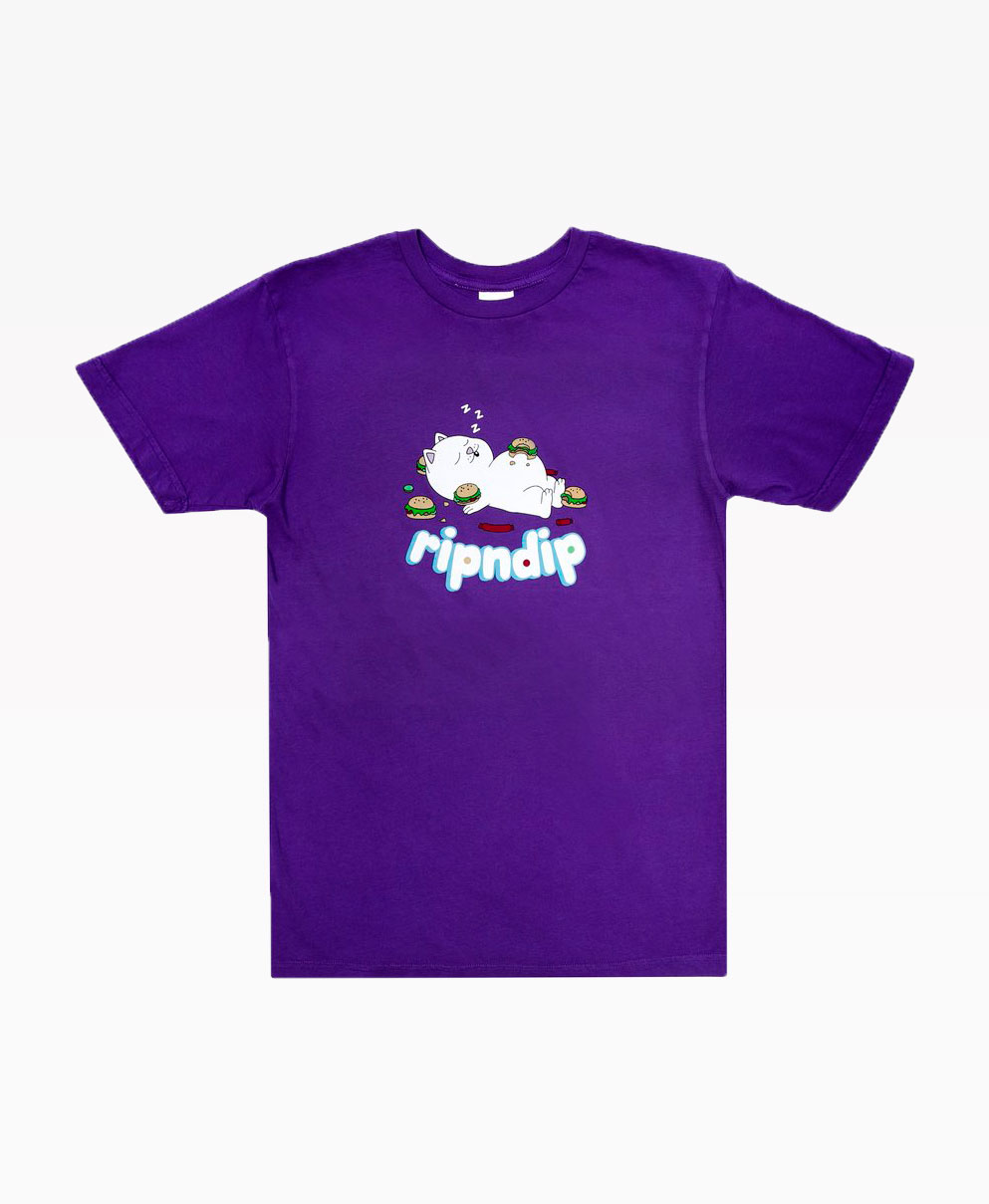 Ripndip Fat Hungry Abby Tee Purple Front