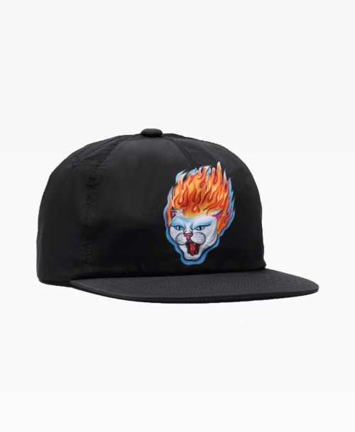 Ripndip Hell Ride 6 Panel Black Front