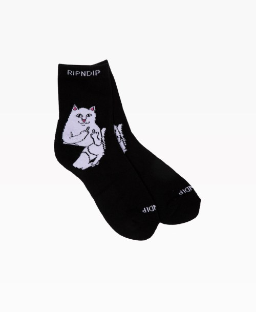 Ripndip Lord Nermal Mid Socks Black Front2