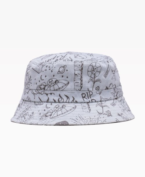 Ripndip Sharpie Denim Bucket Hat Front