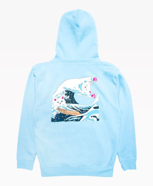 Ripndip The Feat Wave Of Nerm Hoodie Powder Blue Back