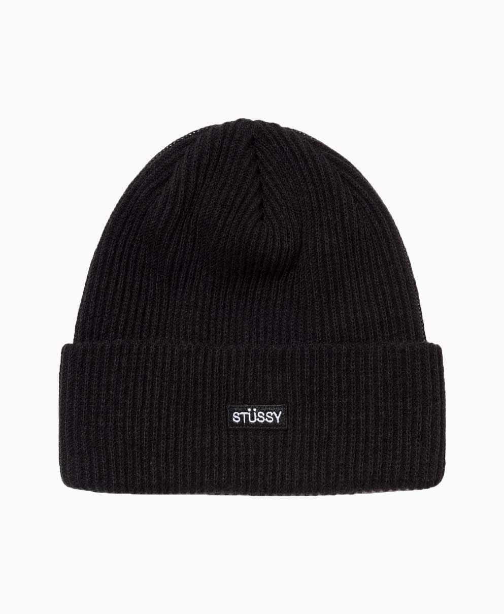 Stussy Small Patch Watchcap Beanie Black Front