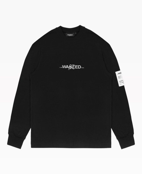 Wasted Signature Ls Tee Black Front