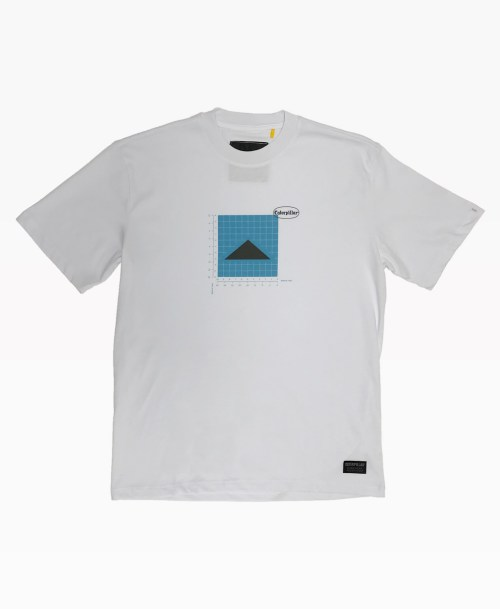 Cat Diagram Tee White Front