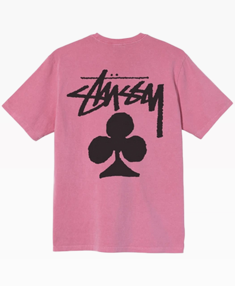Stussy Club Pigmented Dyed Tee Pink Back