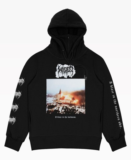 Wasted Northern Hoodie Black Front