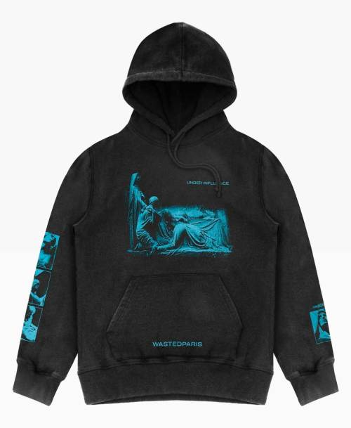Wasted Under Influence Hoodie Delave Black Front