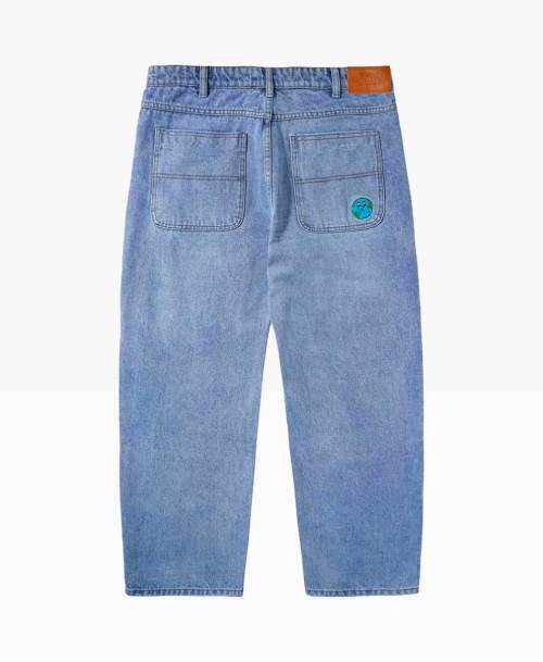 Butter Goods World Denim Washed Indigo Back