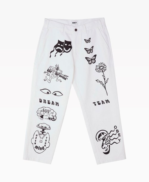 Obey Clothing Hardwork Printed Carpenter Pant Front