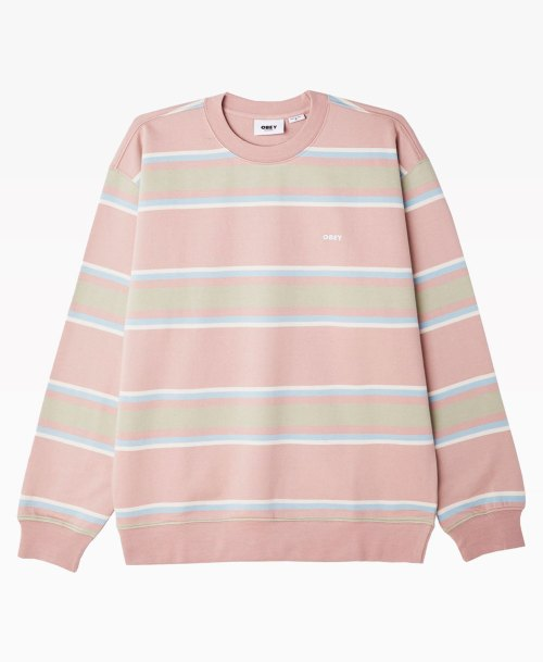 Obey Clothing Jones Crewneck Gallnut Front