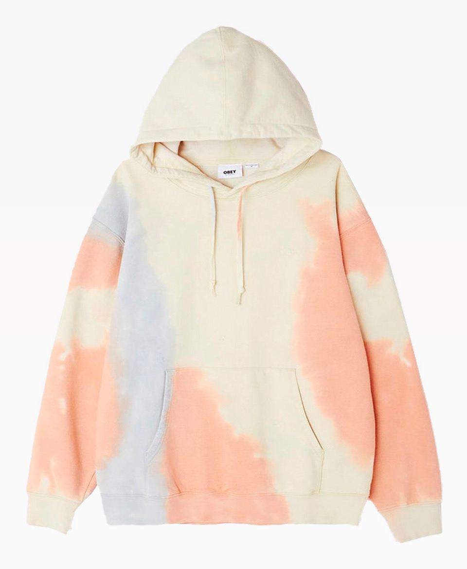 Obey Clothing Sustainable Tie Dye Crewneck Pheasant Front