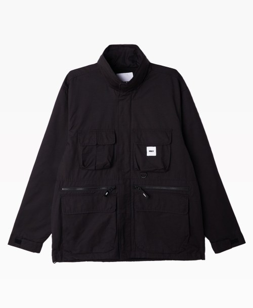 Obey Clothing Warffield Jacket Black Front